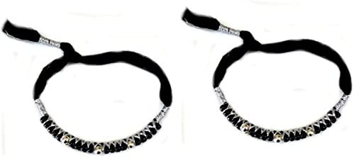 RSJ Adjustable Thread Nazariya for Unisex Baby (White and Black)