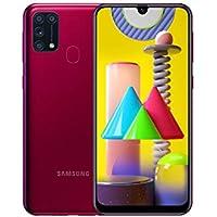 Samsung Galaxy M31 Mobile Phone; Sim Free Smartphone - Red [Amazon Exclusive] (UK Version)