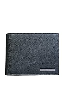 Armani Jeans Coin Pkt Black Wallet Faux Leather
