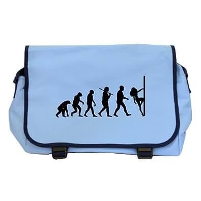 Evolution of a Pole Dancer Messenger Bag - Sky Blue