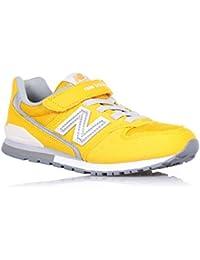 NEW BALANCE - Zapatilla deportiva amarilla, en gamuza y tela, con velcro, cordones elásticos, logo lateral y posterior, Niño, Niños