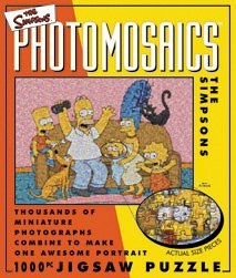 Click for larger image of Photomosaics 'The Simpsons' 1000 Piece Jigsaw Puzzle
