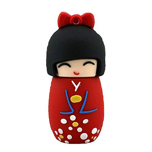 64GB USB 2.0 Sticks Nette Rote Japanische Puppe USB-Stick Geschenk Cartoon USB 2.0 Memory Stick
