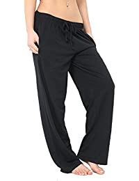 a7c5982321 FASHION INSTYLE Women's Ladies Single Jersey Pyjama Bottoms Lounge Pants  Trousers Night PJS