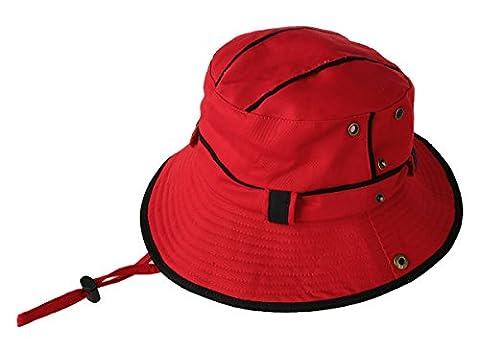 GUMO-Chapeau de soleil chapeau pêcheur alpinisme visor cap ,pliage UV,rouge