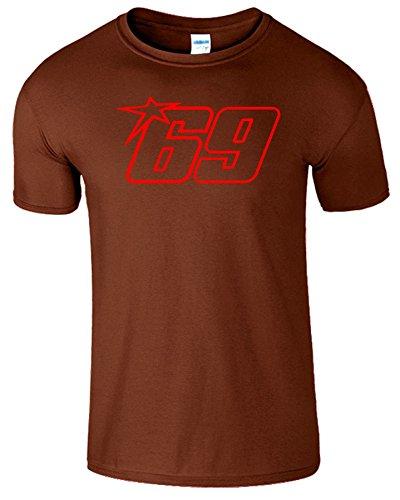 Nicky Hayden Frauen Der Männer Damen MOTO GP T Shirt Kastanie / Rot Design