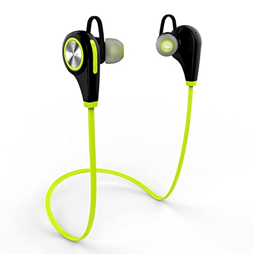 Bluetooth Kopfhörer - Tevina Kabellose In-Ear Ohrhörer Stereo Wireless Sport Headset Bluetooth 4.1 - Lime Grün (Bluetooth-kopfhörer Grün)