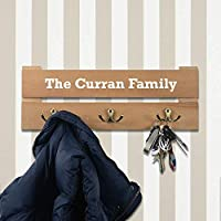 Personalised Coat Rack - 3 Hooks - Colour Slate Grey