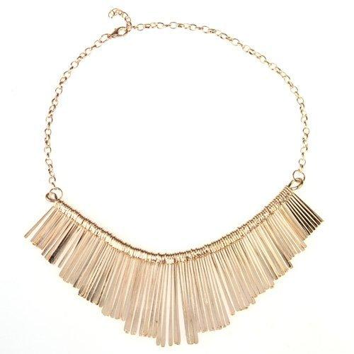 SODIAL(R) Collar Mujer Gargantilla Metal Dorado Cadena Joyeria