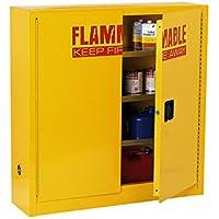 edsal sc24F-p armario de seguridad de acero para líquidos inflamables, 1estante, 2puerta estrecha Manual, 24L capacidad, 1118mm Altura x 1092mm de ancho x 305mm profundidad, amarillo