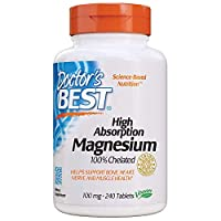 Doctor's Best - High Absorption 100% Chelated Magnesium 240 tablets