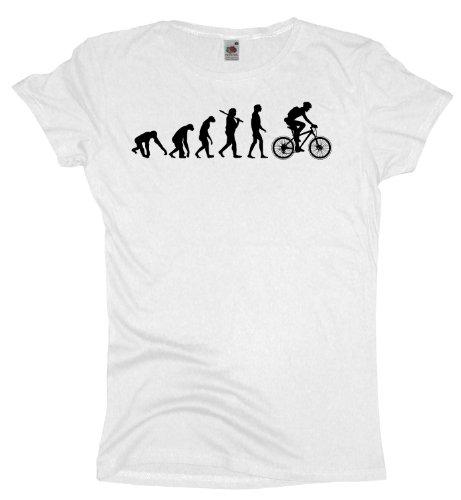 Ma2ca - Evolution - Biker Fahrrad - Damen Girlie T-Shirt White