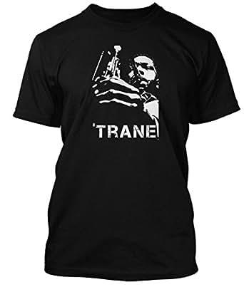 John Coltrane jazz saxophone T-shirt, Mens, Small, Black