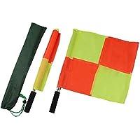 PROKTH Flag Football Belts Banderas de árbitro de Esquina para Adultos: Banderas de Mano a Cuadros, Rojo y Amarillo de Alta Visibilidad 2 pcs