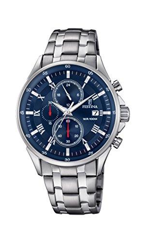 Festina Herren Chronograph Quarz Uhr mit Edelstahl Armband F6853/3 - Festina Uhren