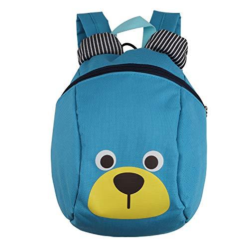 Zaino per bambini,TEAMEN Anti Verloren zaino per bambini, Mini Orsetto scuola borsa per bambini, ragazzi ragazze bambini 1 - 3 anni(Blu chiaro)