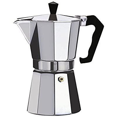 6 Cup Expresso Stove Top Coffee Maker Aluminium Moka Percolator Pot 6 Cup UK