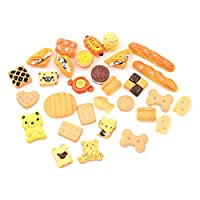 AOWA 30 Pcs Colorful 1:12 Dollhouse Miniature Food Home Craft Ornament Doll Dessert Kids Toy for Kindergarten Kids (A)