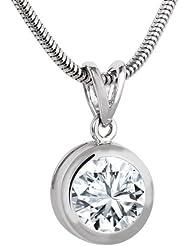 Bella Donna Damen- Halskette mit Anhänger 925 Silber