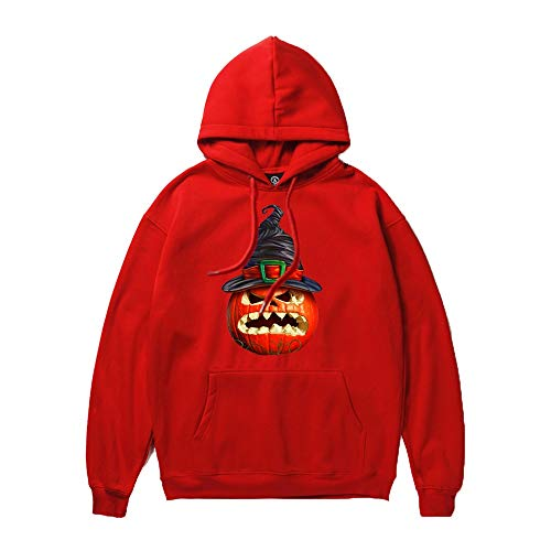Setsail Paares Halloween Trendy Lässiges Tops Horrormuster drucken Party Langarm Hoodies Top Festliches Kostüm Sweatshirt Spaßmantel (Paar Halloween-kostüme 2019 Trendy)