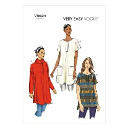 Vogue Patterns V8924 Misses' Tunic Sewing Template, Size ZZ (LRG-XLG-XXL)