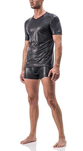 MANStore M510 V-Neck Tee regular / T-Shirt - black / schwarz - Gr.S (V-neck-liege)