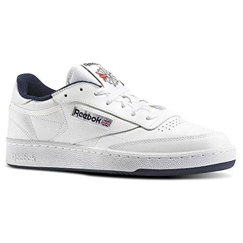 Reebok Club C 85, Chaussures de Fitness Homme BIANCO/NAVY