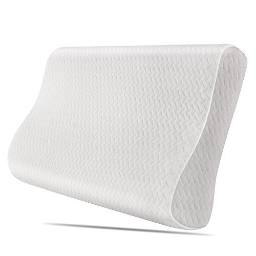 *Homfa Nackenkissen Orthopädische Nackenstützkissen Kopfkissen Memory Foam Schlafkissen Pflegekissen Ergonomische Antischnarchkissen mit Waschbarem Bezug 50x30x10cm*