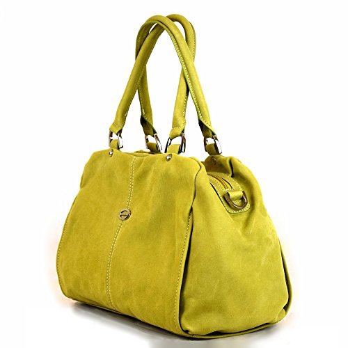 Tornabuoni - Borsa Da Donna In Pelle Morbida Made In Italy Verde