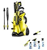 Karcher K4 Full Control Pressure Washer with Car Cleaning Accessory Kit – Yellow/Black
