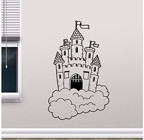 rg In Wolken Wall Decal Kinderzimmer Wandbild Kinder Schlafzimmer Dekor Magic Kingdom Vinyl Aufkleber Kinderzimmer Dekor ()