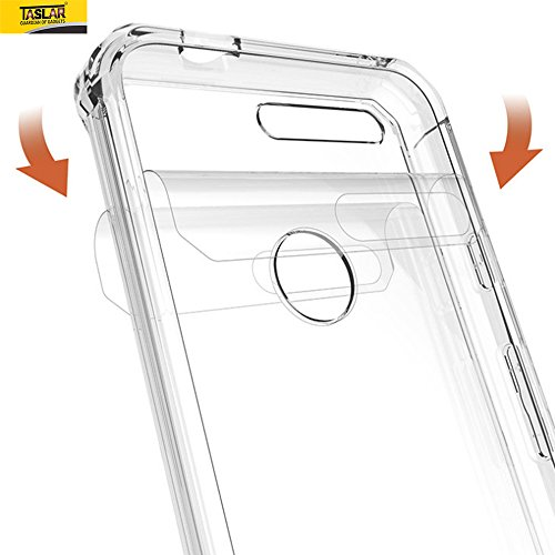 Google Pixel Cover, Taslar(TM) Clear Case for Google Pixel 5.0 inch Scratch-Proof Protection Hybird Bumper Case Cover for Google Pixel – Transparent