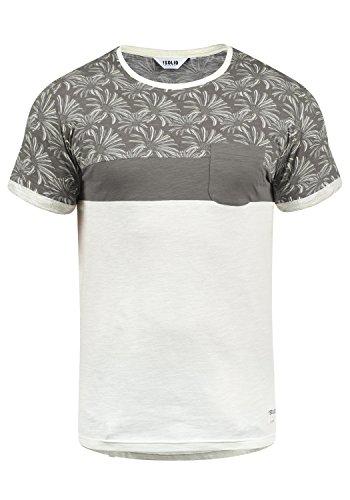 !Solid Florian Herren T-Shirt Kurzarm Shirt Rundhals-Ausschnitt aus 100% Baumwolle Meliert, Größe:L, Farbe:Mid Grey (2842) - Leichtes T-shirt