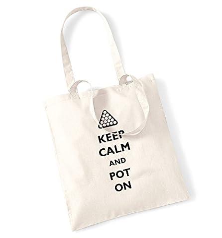 Keep calm and pot on tote bag