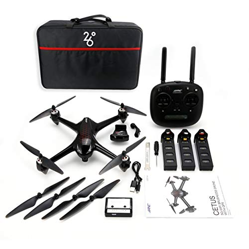 Tellaboulle Drone JJR/C X8 RC Helicopter 2.4G Brushless RC con 5G WiFi FPV 1080P HD Camera GPS Quadcopter Tre batterie