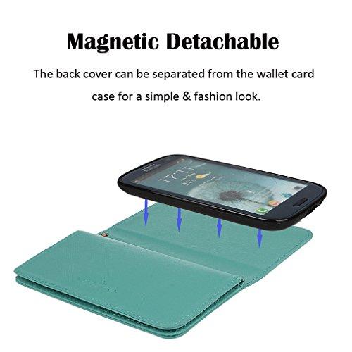 Hülle für Samsung S3, xhorizon FX Prämie Leder Folio Case [Brieftasche][Magnetisch abnehmbar] Uhrarmband Geldbeutel Flip Vogel Tasche Hülle für Samsung Galaxy S3 i9300 mit einer Auto Einfassungs Halte Pink