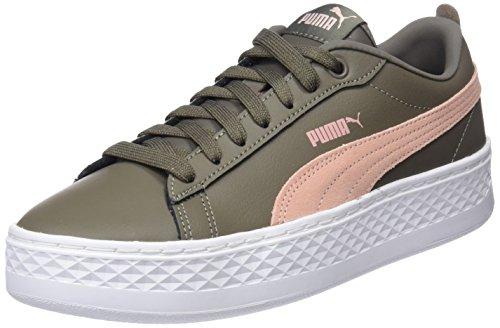 Puma Damen Smash Platform L Sneaker, Braun (Bungee Cord-Peach Beige), 38.5 EU