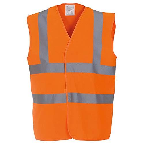 Yoko - Gilet de sécurité haute visibilité - Unisexe (M) (Orange)