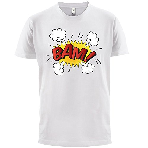 Superheld Bam - Herren T-Shirt - 13 Farben Weiß