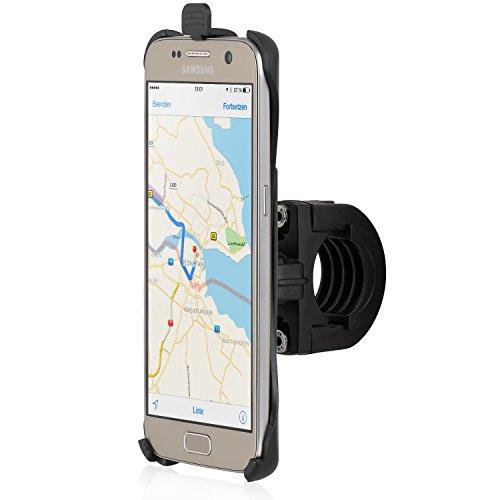Wicked Chili Fahrrad/Roller/Lenker Halterung mit Sicherungsband für Samsung Galaxy S7 (G930F) (passgenau, QuickFix, Made in Germany), S7 Bike Halterung