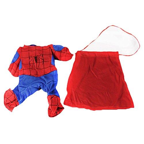 Haustier Bekleidung Hundepullover Hundekostüme Spiderman Anzug Hundejacke (Spider-man-hund-tag)