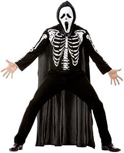 Cesar B841-004 - Disfraz de esqueleto para hombre, talla 52-54