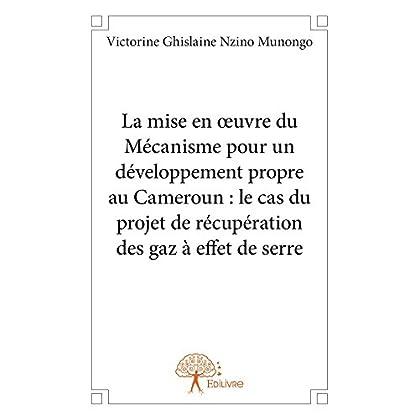 La mise en oeuvre du Mécanisme pour un développement propre au Cameroun : le cas du projet de récupération des gaz à effet de serre (Collection Classique)