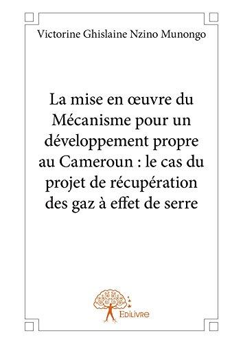 La mise en oeuvre du Mécanisme pour un développement propre au Cameroun : le cas du projet de récupération des gaz à effet de serre