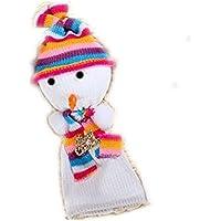 scena pupazzo di neve di Natale puntelli decorativi festa della vigilia di Natale borse mela creativa , colorful