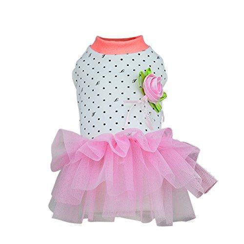 PanDaDa Prinzessin Haustier Kleidung, Welpen Hund Katzen Fünf-Spitz Star Sequins Rosa (Star Kostüme Weiblich Rock)