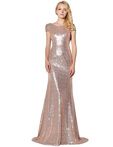 Clearbridal -  Vestido de noche de lentejuelas para mujer