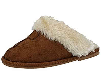 3d13facad0bdd Ladies Kids Girls Ella JILL Faux Suede Fur Lined Trim Slip On Luxury Winter  Gift Boxed