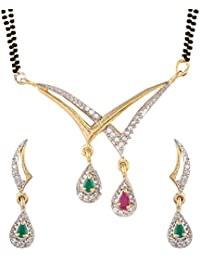YouBella Latest Traditional Jewellery Gold Plated Mangalsutra for Women (Black)(YBMS_10023)