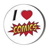 Aimant de réfrigérateur Insanity I Love Comics 58 mm